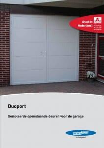 Brochure Novoferm Duoport, Geïsoleerde openslaande deuren - Van IJperen Garagedeuren